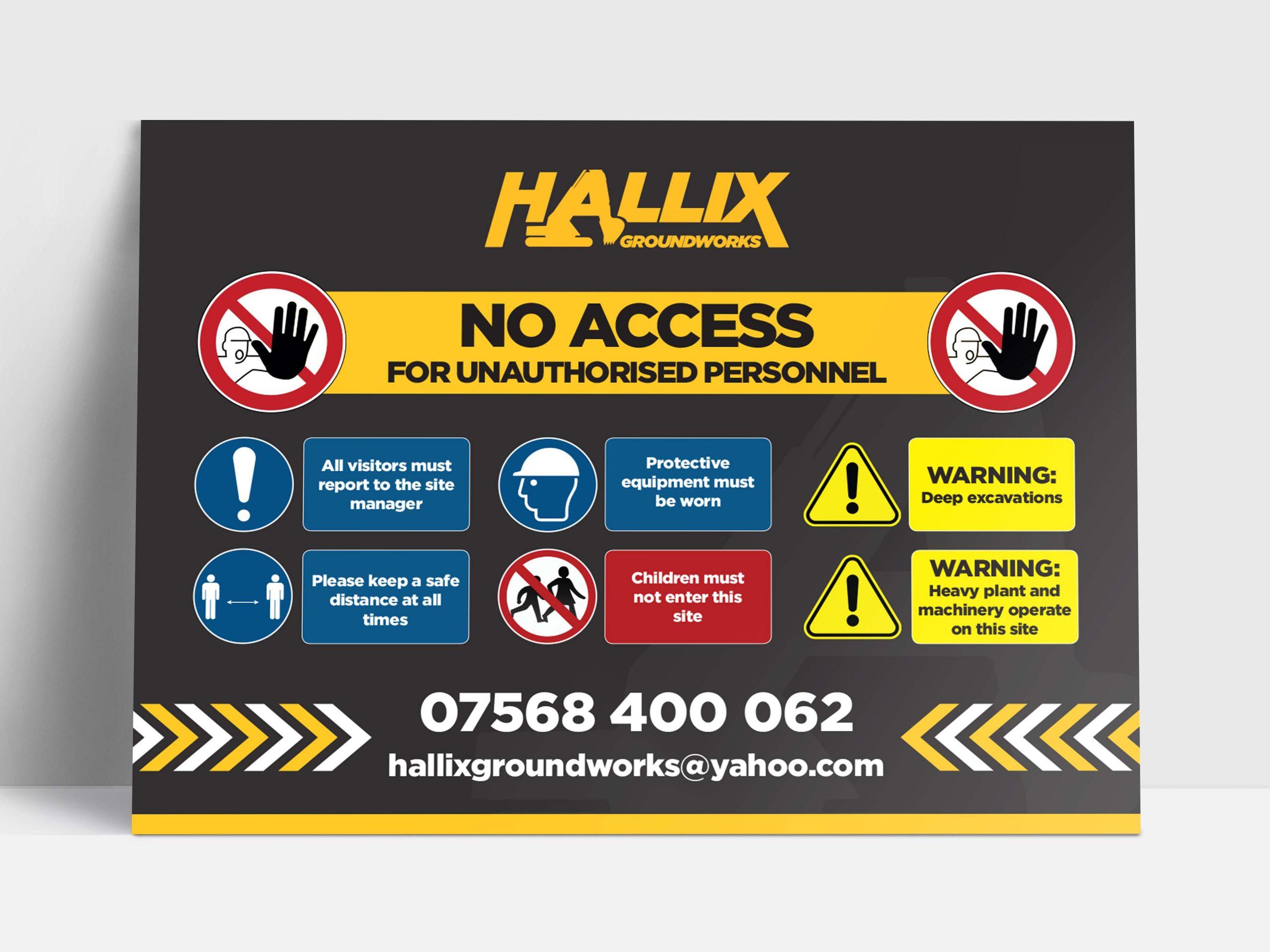 Hallix Groundworks Harrogate board design
