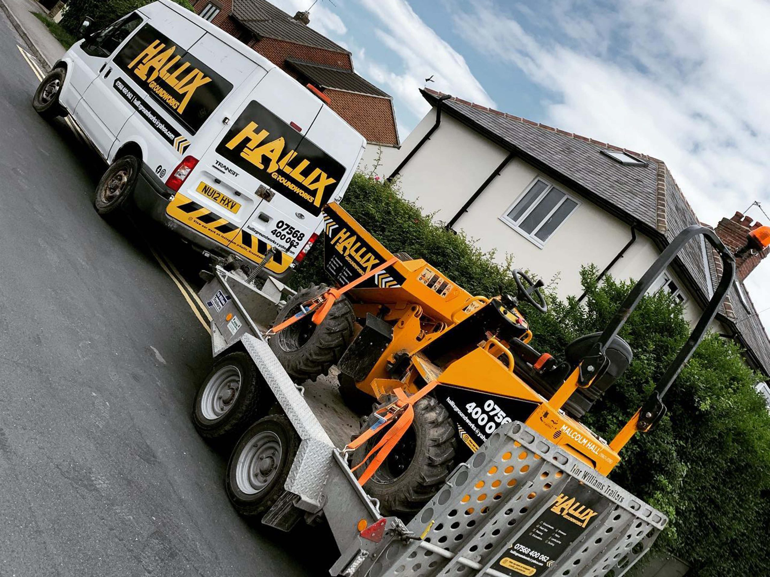 Hallix Groundworks Harrogate Vehicle Livery