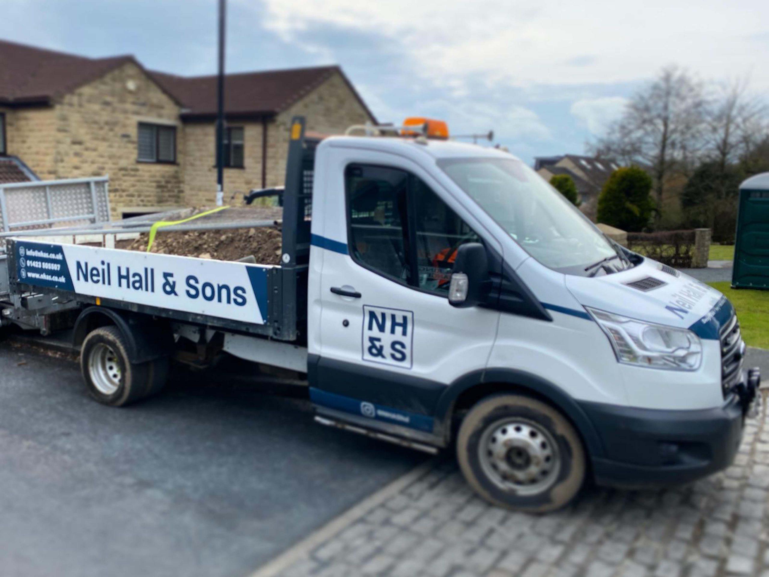 Neil Hall & Sons Harrogate Vehicle Livery